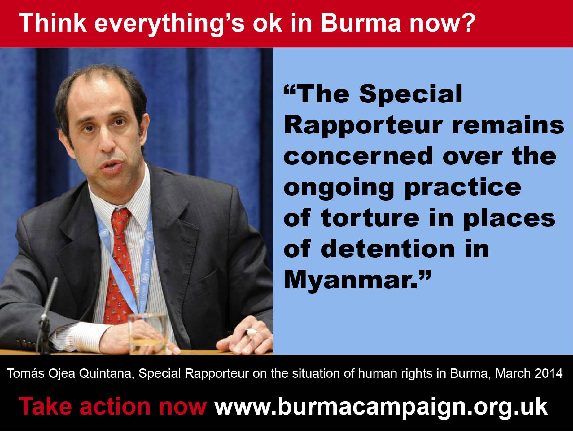 11 think everything ok quintana un report 2014 torture burma campaign UK
