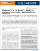 Rohingya in Bangladesh: Maintaining the Status Quo; Squandering a Rare Opportunity