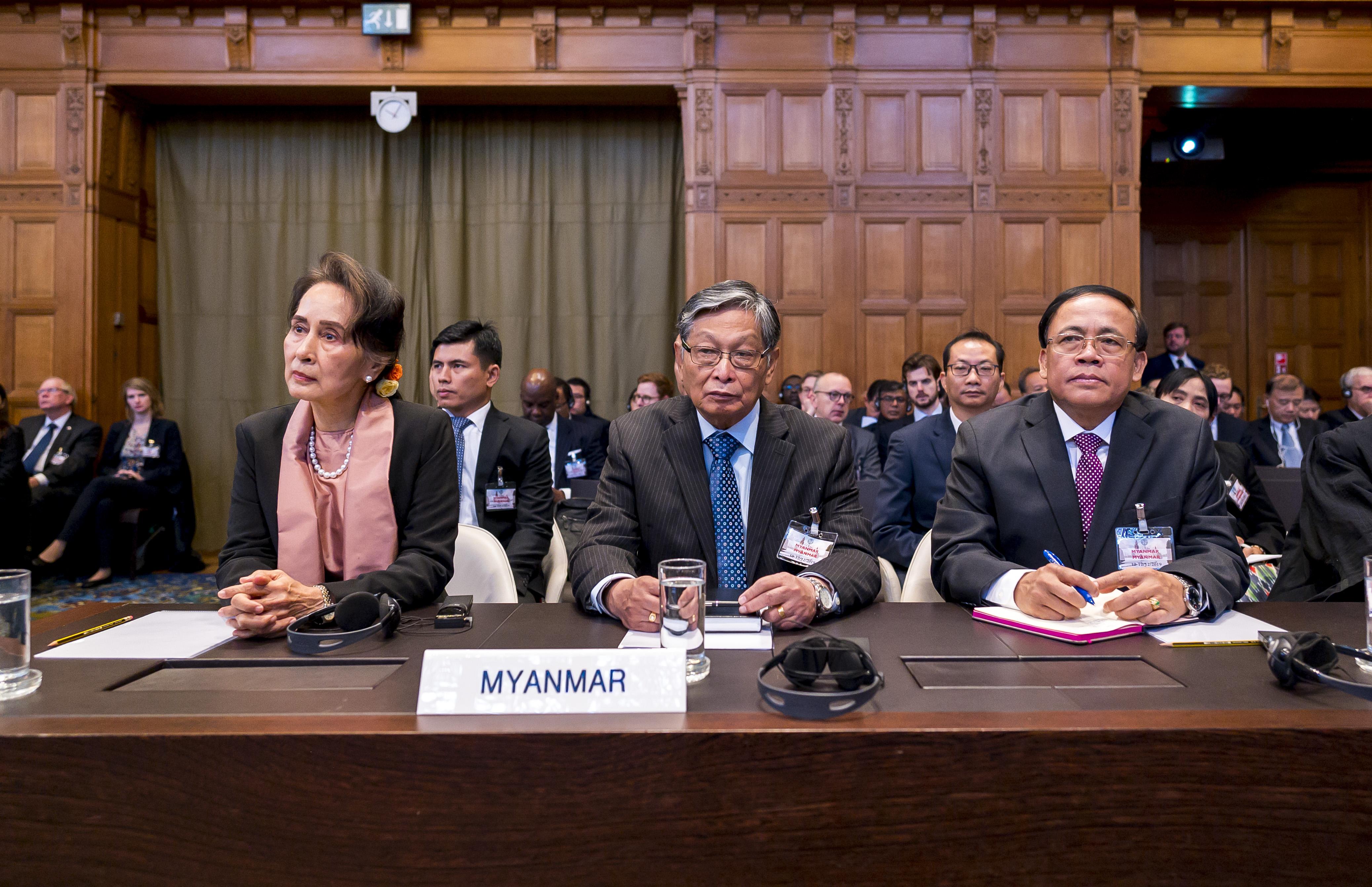 Aung San Suu Kyi at The Hague