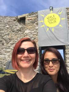 Anna Roberts and Wai Hnin at Vale Earth Fair 2019