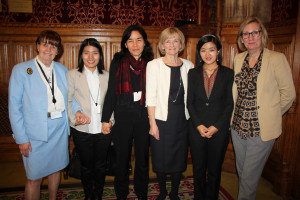 Baroness Cox, Jessica Nhkum, Pippa Curwen, Baroness Kinnock, Rosalinn Zahau, Baroness Nye