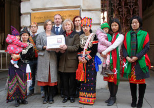 Baroness-Kinnock-joins-Burma-Campaign-UK-staff-and-Kachin-community-for-petition-delivery-at-FCO-19-Jan-2017