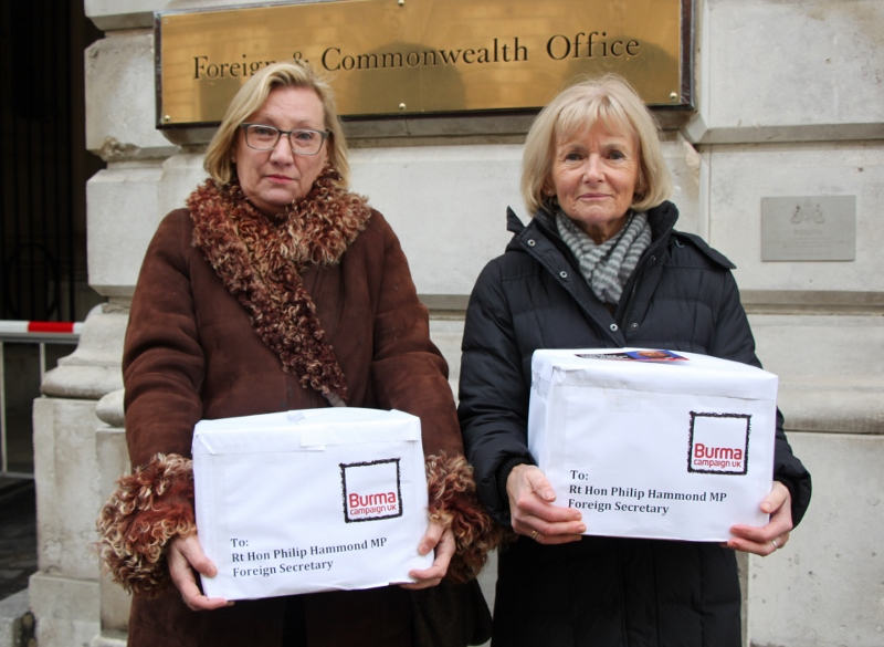 Baroness Nye and Baroness Kinnock with the Rose-tinted glasses being del...