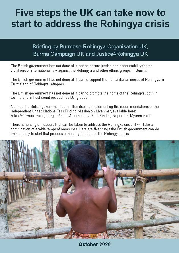Five steps the UK can take to start to address the Rohingya crisis