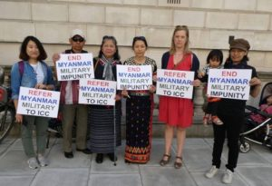 Karin Valtersson at Kachin protest