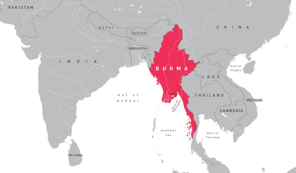 Maps Burma Campaign UK - Map of burma