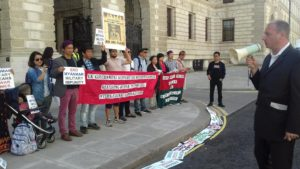 Mark Farmaner at Kachin protest