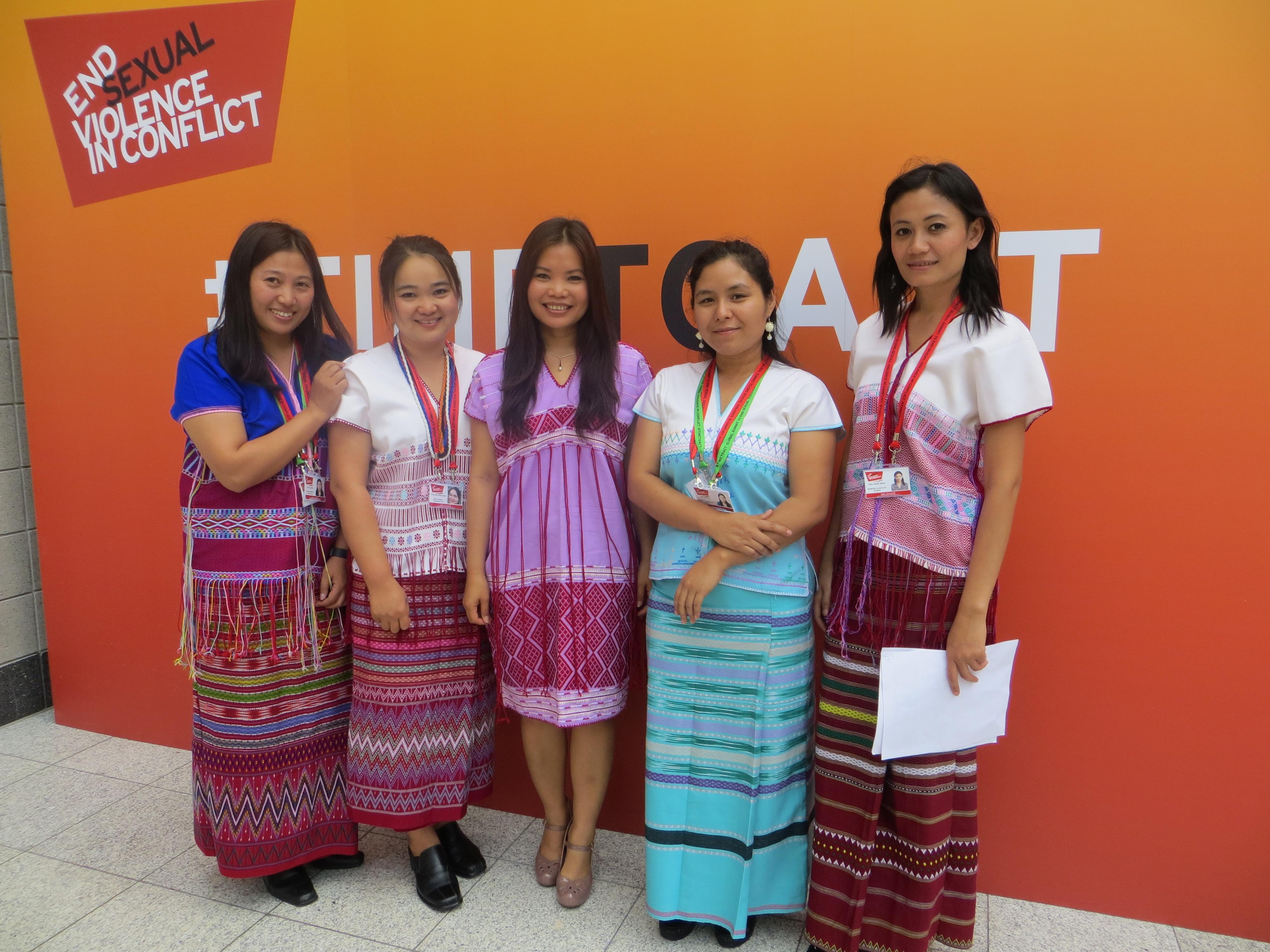 Moon Nay Li, K'Nyaw Paw, Zoya Phan, Tin Tin Nyo and Wakhu Shee at global summit