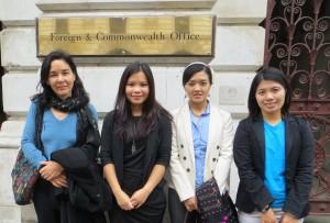 Pippa Curwen, Zoya Phan, Rosalinn Zahua, Jessica Nhkum British Foreign O...
