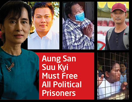 Free Political Prisoners – campaign home page