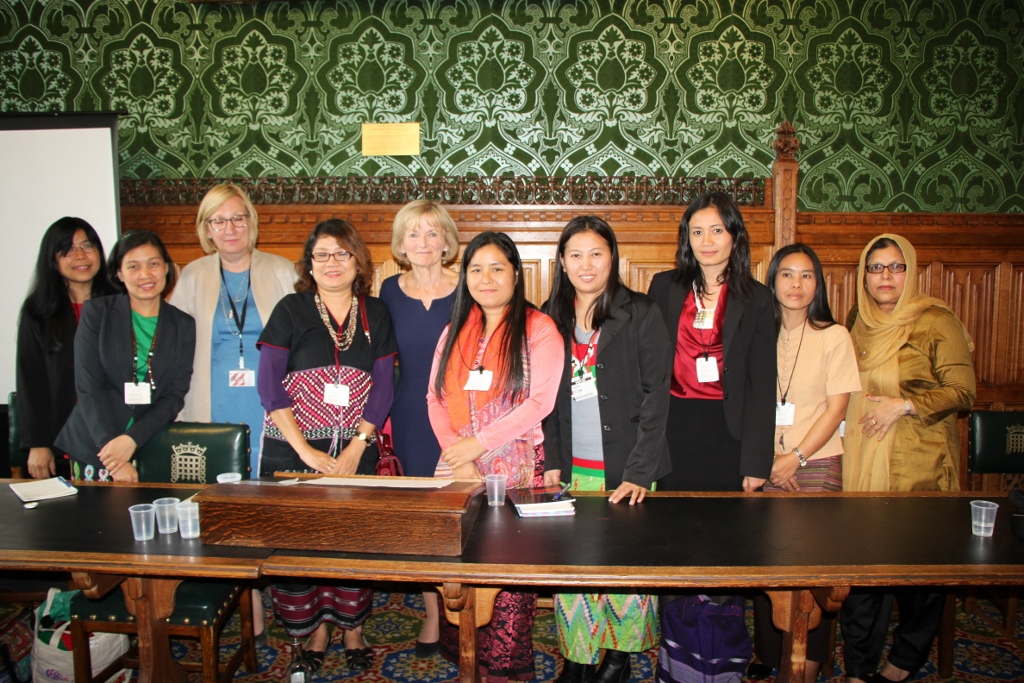 Women from Burma delegation at British Parliament (1024x683).jpg