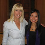 Zoya Phan with Greek MP Vasiliki Tsonoglou-Villioti