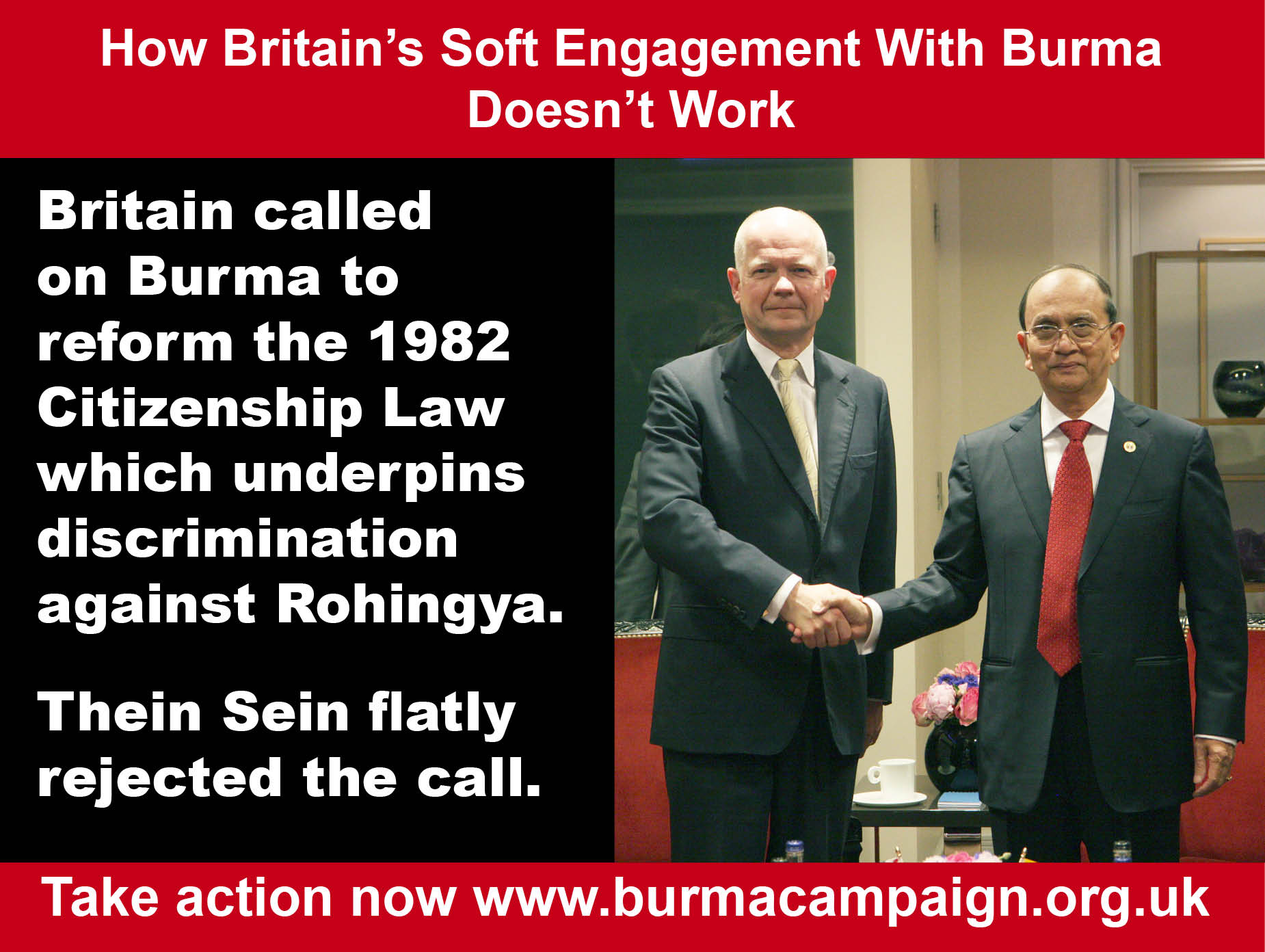soft engagement doesn't work citizenship discrimination rohingya burma campaign UK